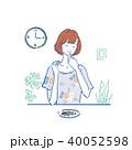 女性 白バック ナッツのイラスト 40052598