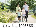 家族 歩く 子供の写真 40053861