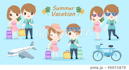 couple with summer vacation 40053879