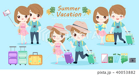 couple with summer vacation 40053882