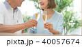 シニア 夫婦 乾杯 ワイン カップル イメージ 40057674