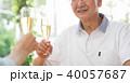 シニア 夫婦 乾杯 ワイン カップル イメージ 40057687