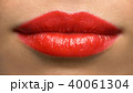 lips or mouth of woman with red lipstick 40061304
