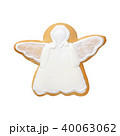 white angel gingerbread isolated on white background 40063062
