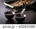 日本酒と秋刀魚 40063086