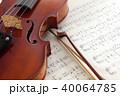 楽譜とヴァイオリン 40064785