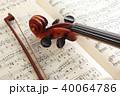 楽譜とヴァイオリン 40064786