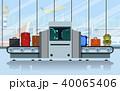 エアポート コンベア 荷物のイラスト 40065406