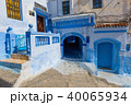 Blue street inside Medina of Chefchaouen 40065934