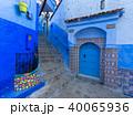 Blue street inside Medina of Chefchaouen 40065936