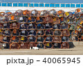 Stack of crab traps is Essaouira port 40065945