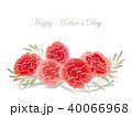 花 背景 カーネーションのイラスト 40066968