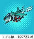 ミサイル ミリタリー 航空機のイラスト 40072316