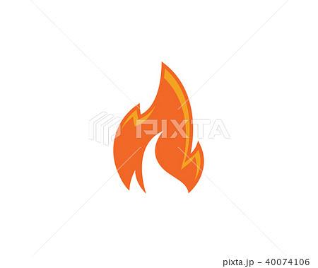 fire flame logo template vectorのイラスト素材 40074106 pixta