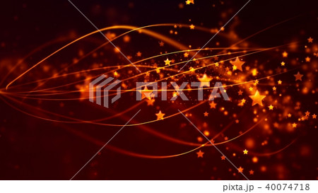 Abstract Background with nice golden flying stars 40074718