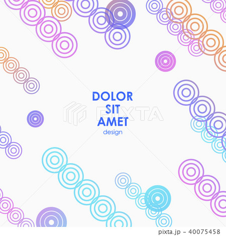 vector colorful design for your idea dynamic circlesのイラスト素材