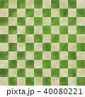 市松模様 緑色 40080221