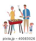 バーベキュー ベクター 家族のイラスト 40083026