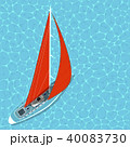 船 帆 航海のイラスト 40083730