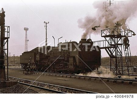 昭和44年 北海道五稜郭機関区の蒸気機関車D52 40084978