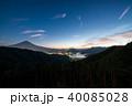 富士山と河口湖 40085028