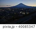 高台より望む富士吉田市市街と富士山 40085347