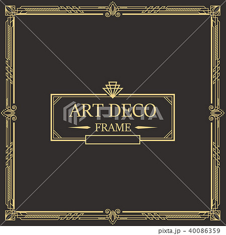 art deco border and frame template のイラスト素材 40086359 pixta