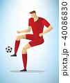サッカー 選手 ベクトルのイラスト 40086830