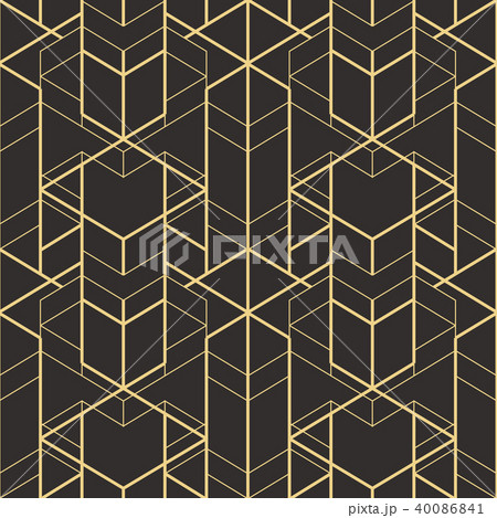 Abstract art deco seamless pattern 01 40086841