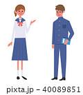 人物 学生 学生服のイラスト 40089851