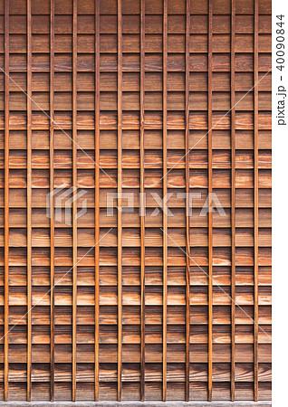 木製の格子の壁 40090844