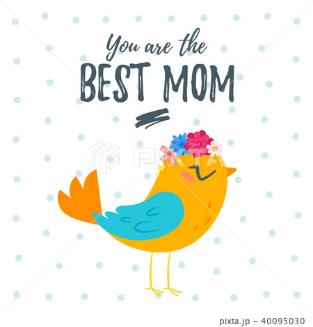 mother s day greeting card templateのイラスト素材 40095030 pixta