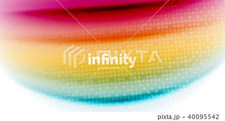 Gel jelly fluid flowing liquid rainbow style colours, wave abstract background, modern minimal 40095542