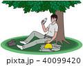 熱中症 水分補給 休むのイラスト 40099420