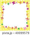 クローバー 柄 フレームのイラスト 40099579