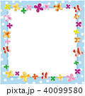 クローバー 柄 フレームのイラスト 40099580