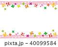 クローバー 四つ葉 フレームのイラスト 40099584