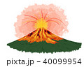 噴火 活火山 富士山のイラスト 40099954