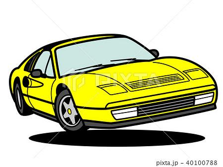 イタリアンスポーツ 黄色 ジャンプ 自動車イラスト 40100788