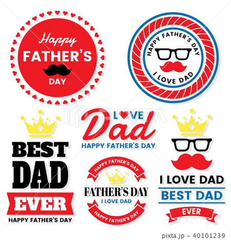father day Birthday Vector Logo for banner 40101239