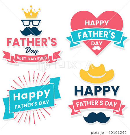 father day Birthday Vector Logo for banner 40101242