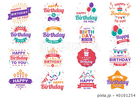Happy Birthday Vector Logo for banner 40101254