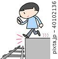 歩きスマホ 事故 線路のイラスト 40102136