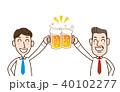 ビール 乾杯 ビジネスマンのイラスト 40102277