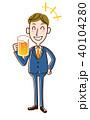 ビール 人物 ビジネスマンのイラスト 40104280
