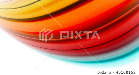 Gel jelly fluid flowing liquid rainbow style colours, wave abstract background, modern minimal 40108165