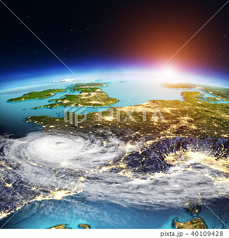 West Europe weather map. 3d rendering 40109428