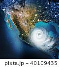 サイクロン 低気圧 天気のイラスト 40109435