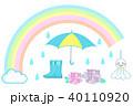 6月 梅雨 セットのイラスト 40110920