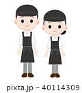 胸当てエプロンと帽子の制服 男女 40114309
